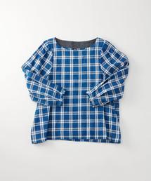 45R(フォーティファイブ・アール)の藍染めカディシャツダックのブラウス(シャツ/ブラウス)