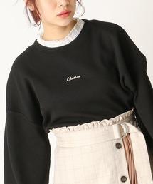 OLIVE des OLIVE(オリーブデオリーブ)の[再入荷決定!]サーマル ロゴ刺繍衿レースPO(Tシャツ/カットソー)