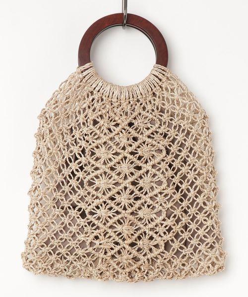 マルシェ MARCHER / ウッドハンドル編みかごバッグ