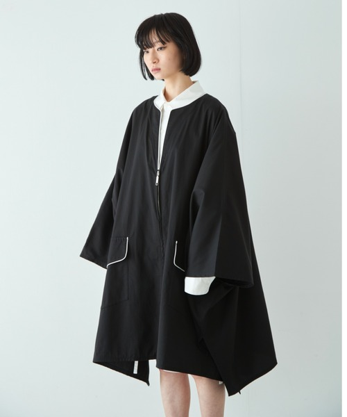 room13:[ 21SS ] Zip-Up Poncho