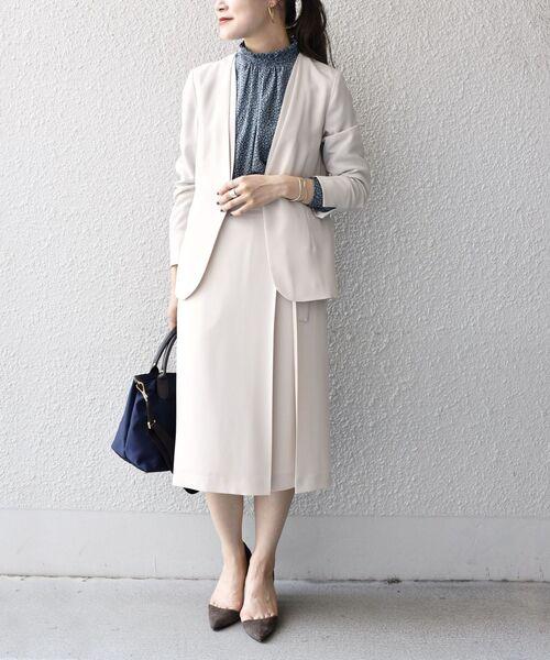 [SHIPS for women] ウールライクベルテッドスカート◆