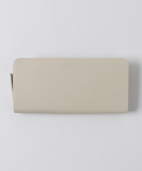 MARGARET HOWELL idea(マーガレット・ハウエルアイデア)の「MARGARET HOWELL idea(マーガレット・ハウエル アイデア) ベンジャミン ラウンドファスナー長財布(財布)」|オフホワイト