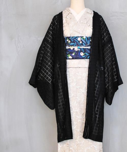 KIMONO MODERN(キモノモダン)の「レースの薄羽織-coolな淑女のためのチュールレース-マスカレード(和装小物)」|ブラック