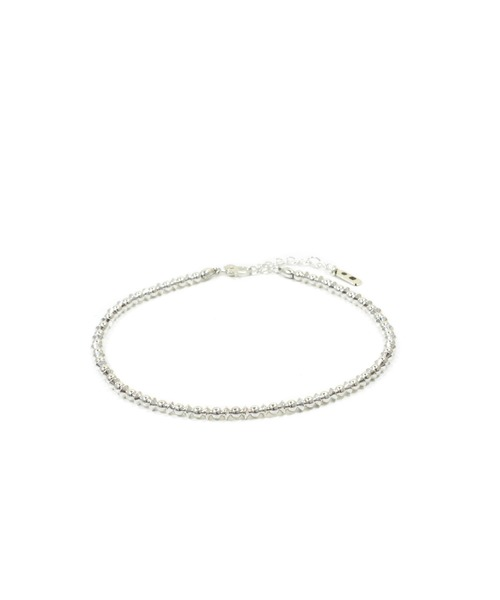 Nave Silver Beads Anklet
