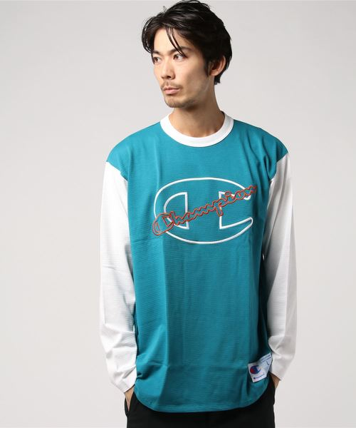 【OUTLET STORE PRICE】【Champion/チャンピオン】アクションスタイル ロングスリーブベースボールTシャツ