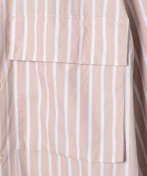 ESTNATION / ストライプミリタリーシャツ