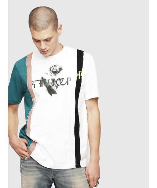 メンズ Tシャツ カラーブロックTシャツ