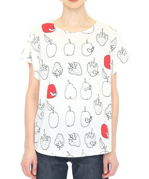 コラボレーションTシャツ/スケッチフルーツ(エリックカール)