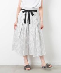 LUCA/LADY LUCK LUCA(ルカ/レディラックルカ)のLC/LLL ジャガードリボン付きスカート(スカート)