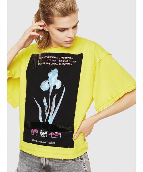 レディース Tシャツ オーバーサイズ半そでグラフィックTシャツ