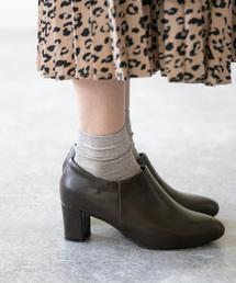 menue(メヌエ)のレディース プレーンブーティ マニッシュブーツ 6cmヒール ショートブーツ(ブーティ)