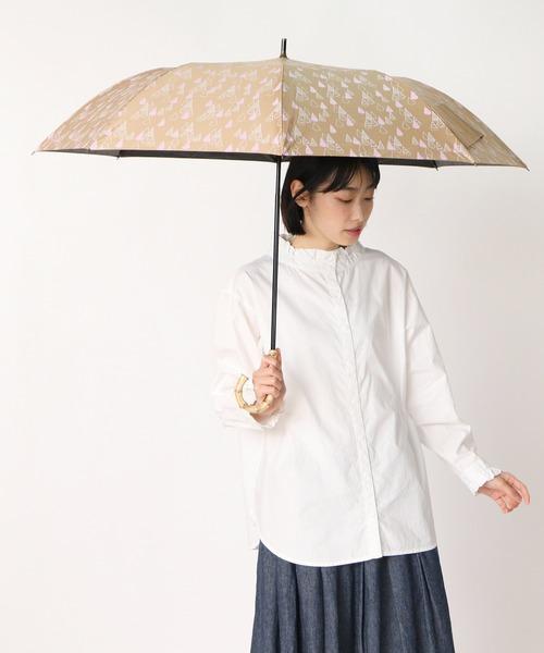 晴雨兼用傘 C/Cティピー柄プリントショートワイド 27387