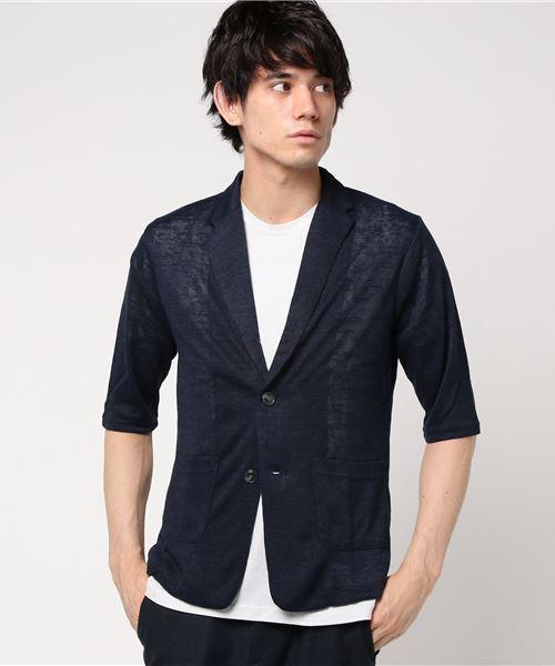 7分袖ニットジャケット