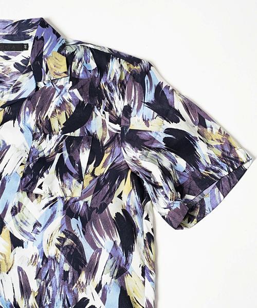 H/S総柄オープンカラーシャツ