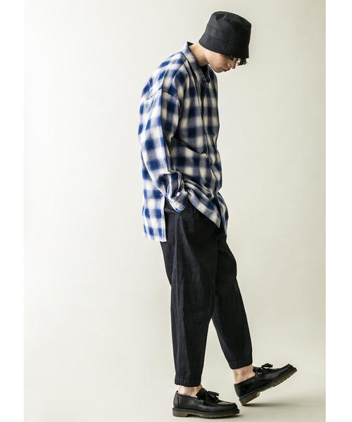 <monkey time> OMBRE CHECK LONG SHIRT/ロングシャツ