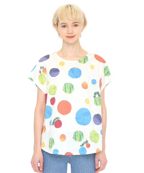 コラボレーションTシャツ/ランダムドット(エリックカール)