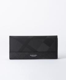 BLACK LABEL CRESTBRIDGE(ブラックレーベル・クレストブリッジ)のシャドークレストブリッジチェック ロングウォレット(財布)