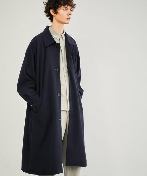 梨地ルーズリラックス オーバーサイズドルマン バルカラーコート/ステンカラーコート 2021SS EMMA CLOTHES