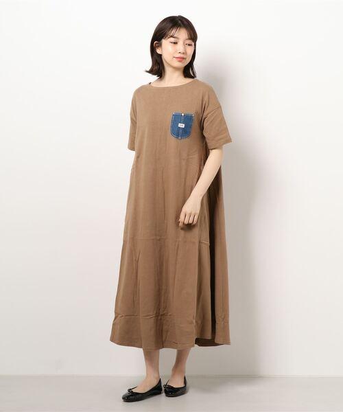 Lee/リー  デニムポケット カットソーワンピース