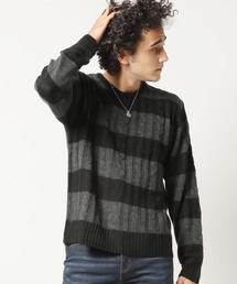 ARCADE(アーケード)のケーブル編みクルーネックニットセーター(ニット/セーター)