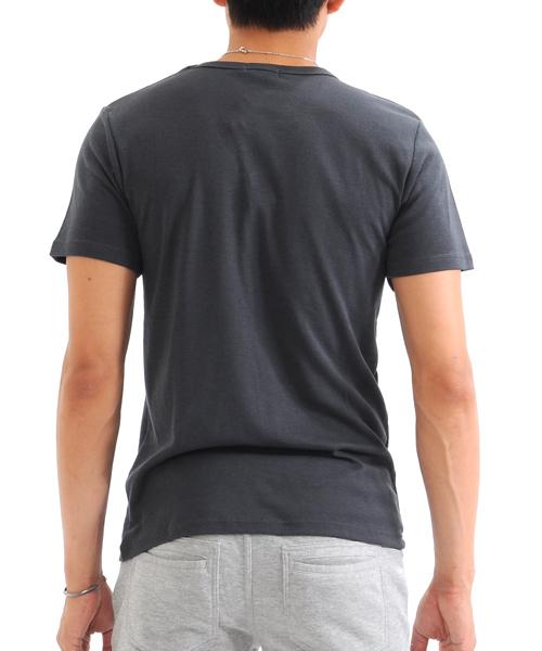 フライス半袖 Vネック Tシャツ