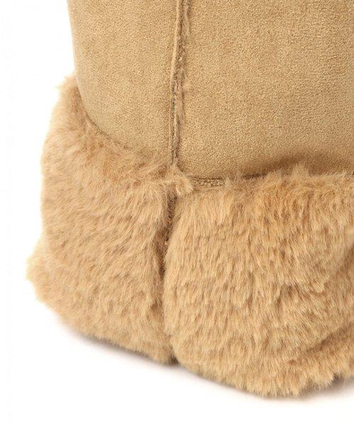 巾着型フェイクムートンミニバッグ / LAKOLE