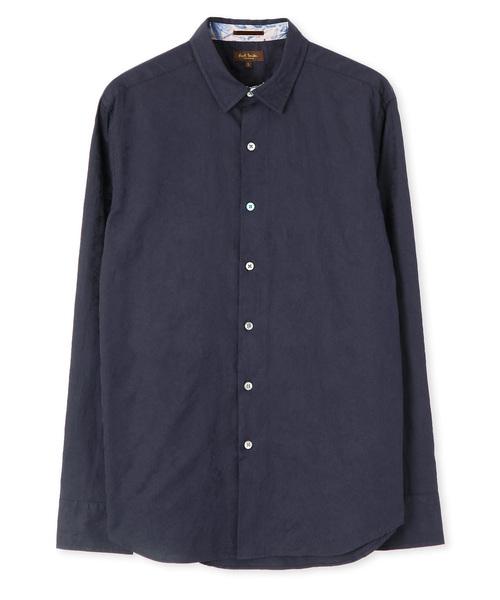 フラワージャカードシャツ【194381 N8875】