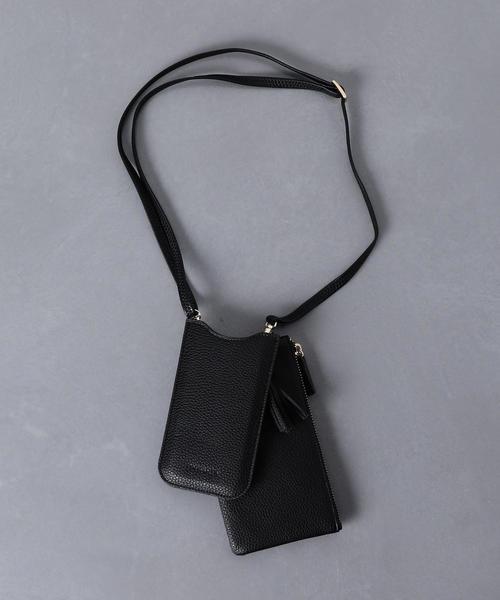<IPHORIA(アイフォリア)> ネックレスiPhoneケース BLACK