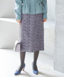 &. NOSTALGIA(アンドドットノスタルジア)のレオパード柄ストレッチスエードタイトスカート(スカート)