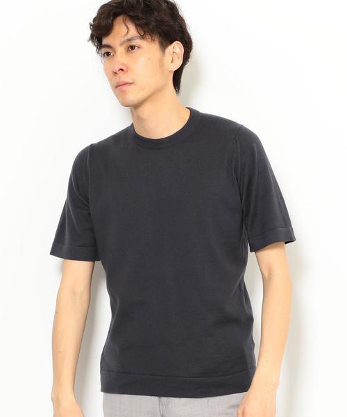 [ジョン スメドレー]★JOHN SMEDLEY S4071 半袖ニット Tシャツ 18S