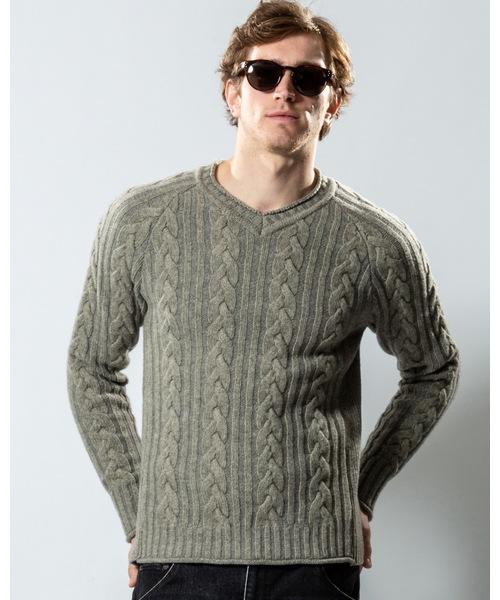 【お気に入り】 plating cable knit V knit/N(ニット/セーター) cable wjk(ダヴルジェイケイ)のファッション通販, 生活住空間ストア:552f1cc8 --- crypto2020.com