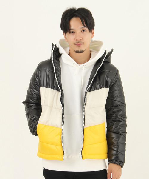 【K·U·I】カラー切替中綿ジャケット