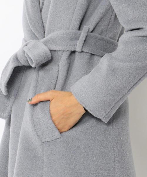 アルパカシャギー ベルテッドコート