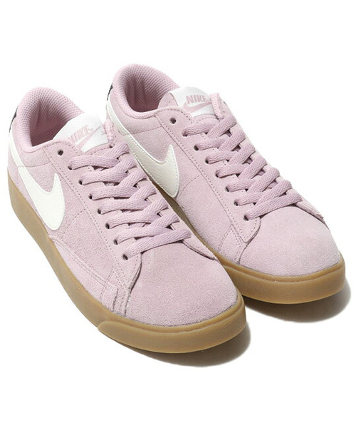 NIKE W BLAZER LOW SD (PLUM CHALK/SAIL-OIL GREY-GUM LIGHT BROWN) 【SP】
