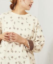 pual ce cin(ピュアルセシン)の【cotton100%】ECO刺繍クルーネックプルオーバー 商品名 (カナ)(Tシャツ/カットソー)