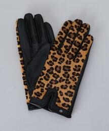 <DENTS>LEOPARD PRINT GLOVES/グローブ