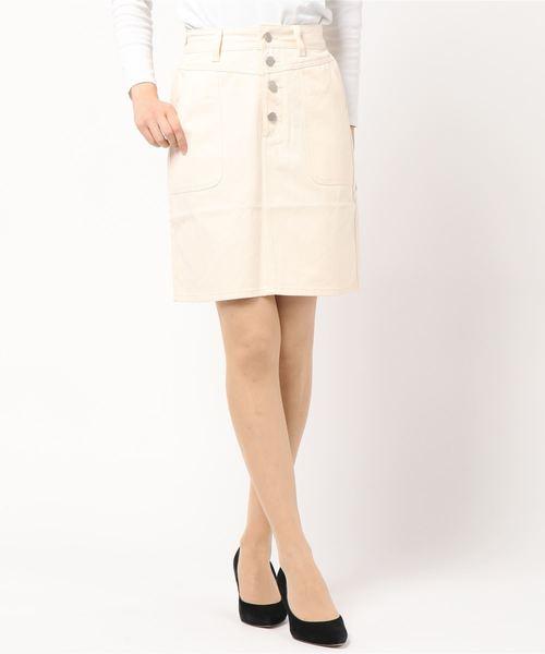 ベーカーポケットタイトスカート
