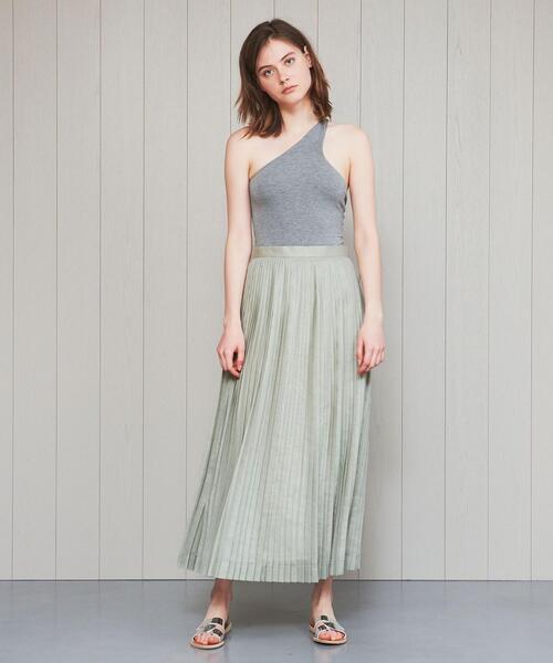 <H>ORGANDY PLEATED SKIRT/スカート