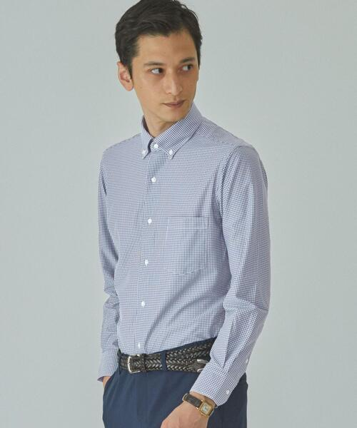 【WORK TRIP OUTFITS】WTO チェック トリコット ボタンダウン<スリムフィット>