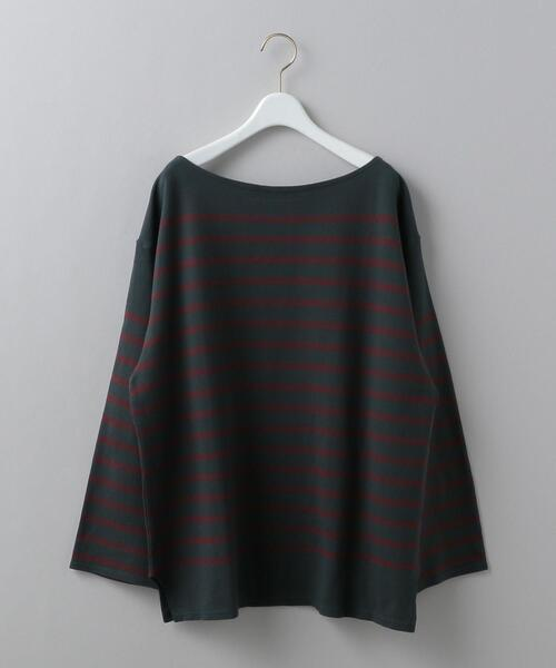 <6(ROKU)>RUSSELL BORDER LONG SLEEVE PULLOVER/カットソー