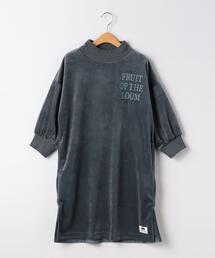【別注】<FRUIT OF THE LOOM (フルーツオブザルーム)>TJ EX  ベロアワンピース 140cm-150cm