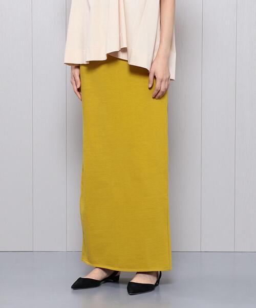 <H>BACK SLIT MAXI SKIRT/スカート