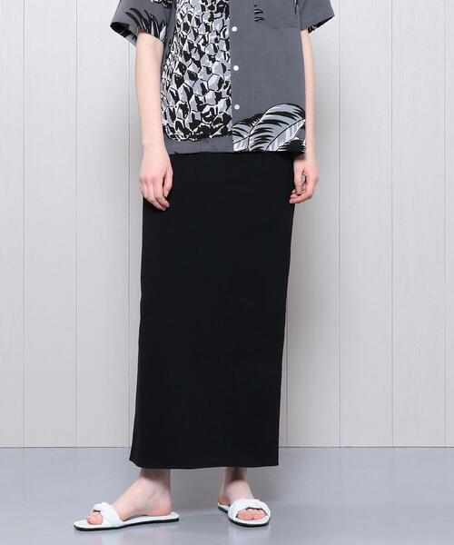 <H>BACK SLIT MAXI SKIRT/スカート