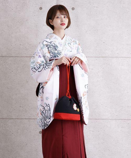 2019公式店舗 袴セット ペールピンクに花と菊, 最新デザインの 690d3514