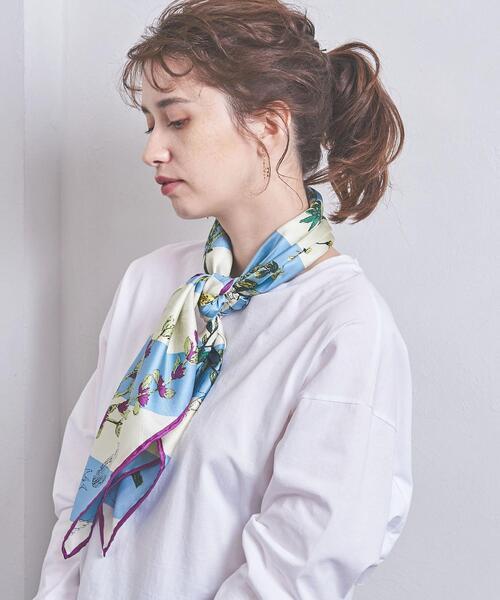 <manipuri(マニプリ)>シルク スカーフ 20SS �A