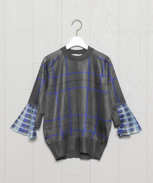 <TOGA PULLA>HIGH GAUGE CHECK PULLOVER/プルオーバー.