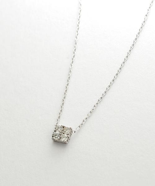 【国際ブランド】 K10ホワイトゴールド H&Qダイヤモンド ネックレス(ネックレス)|me.luxe(ミーリュクス)のファッション通販, EBISU LEATHER:34dbd66c --- superlite.com.vn