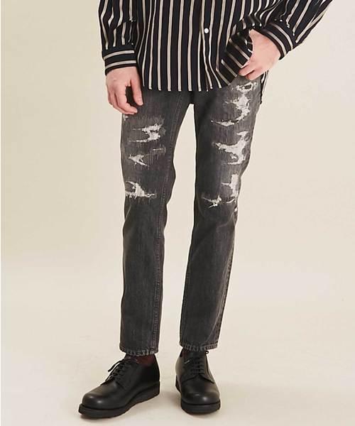 最大80%オフ! UNITED TOKYOリペアスラックスデニム2(デニムパンツ)|UNITED TOKYO(ユナイテッドトウキョウ)のファッション通販, クニガミソン:31460ff1 --- skoda-tmn.ru