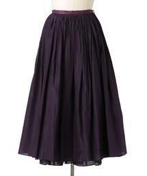 Drawer シルクコットンギャザースカート
