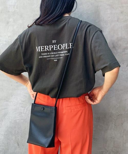 Lian(リアン)の「MERPEOPLEロゴプリントTシャツ(Tシャツ/カットソー)」|スミクロ